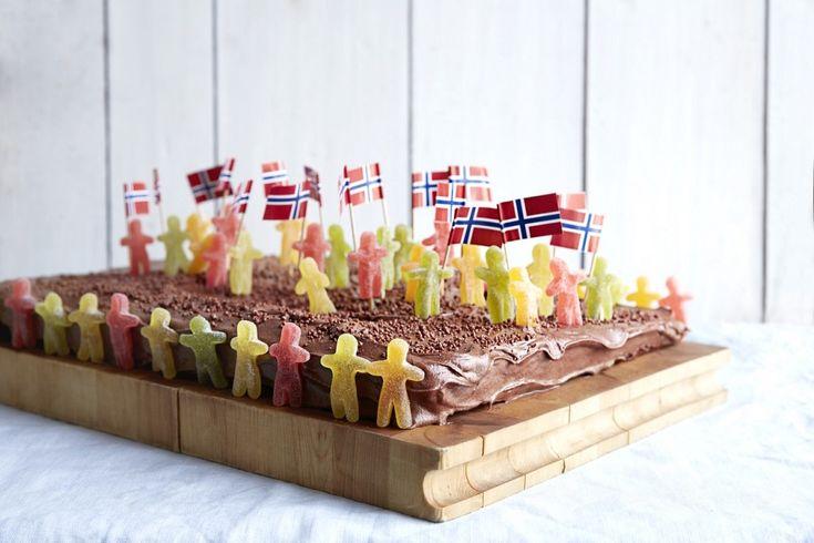 Sjokoladekake til 17.mai