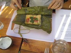 #Filipino Tamales, steamed rice cakes w achuete, chorizos,chicken,eggs (revisit)