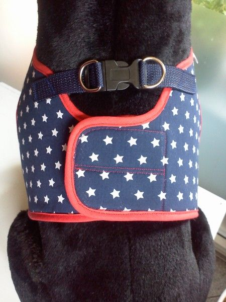 Hunde Softgeschirr Hundegeschirr engl.  Bulldogge von Sweet Dog Style auf DaWanda.com