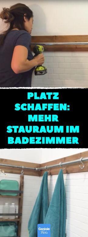 Platz schaffen: Mit Rohren mehr Stauraum im Badezimmer. #bad #idee #tipps #tricks #stauraum