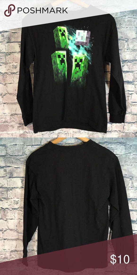 Mojang Minecraft Shirt YM 10-12 Like New I16 mojang Shirts & Tops Tees - Long Sleeve