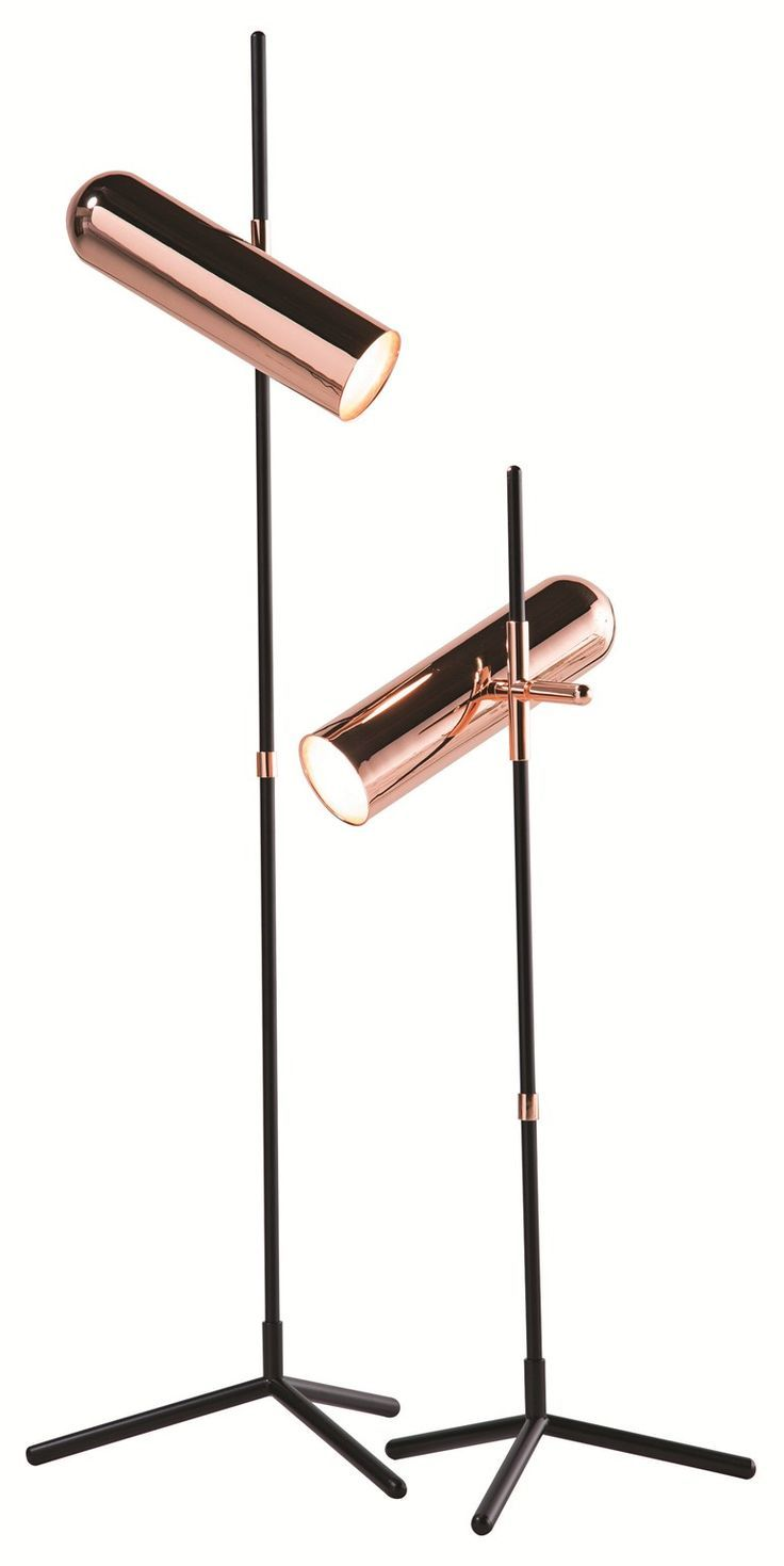 Direct light adjustable floor lamp WANDER in Rose Gold by ROCHE BOBOIS design Cristian Mohaded