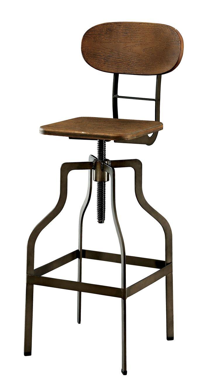 Furniture Of America Alavus Industrial Height Adjustable