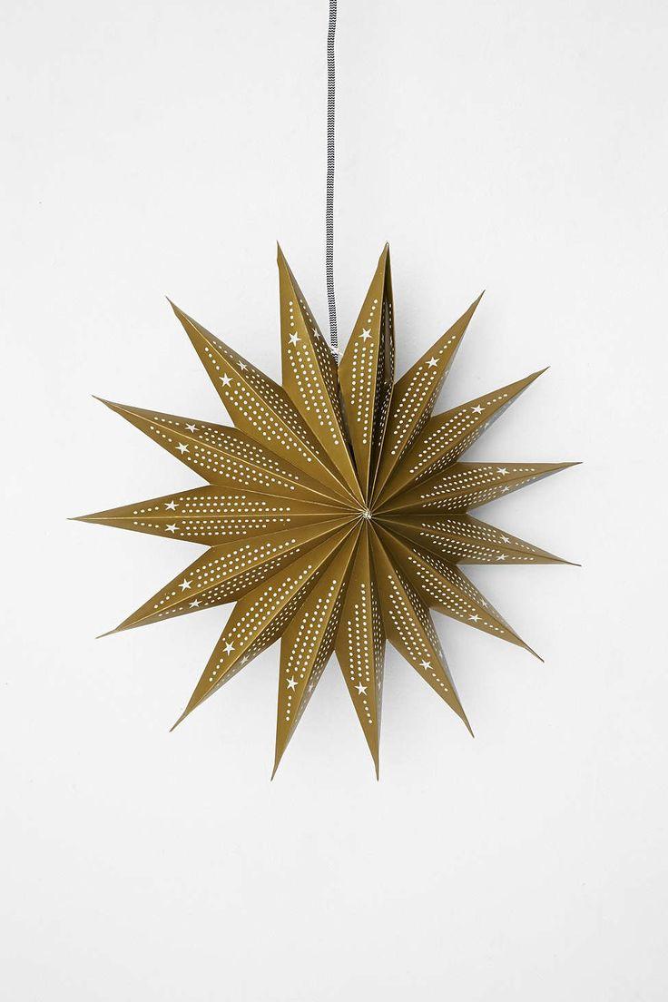 Party decoration ideas moroccan metal lantern - Pointed Cutout Star Paper Lantern