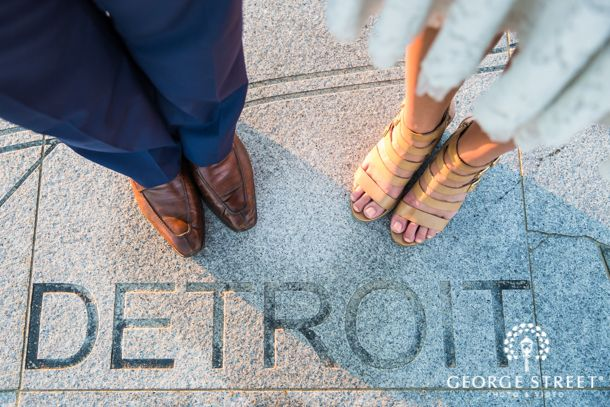 Sarah & Kyle's Urban-Chic Engagement Session, Detroit | George Street Photo & Video
