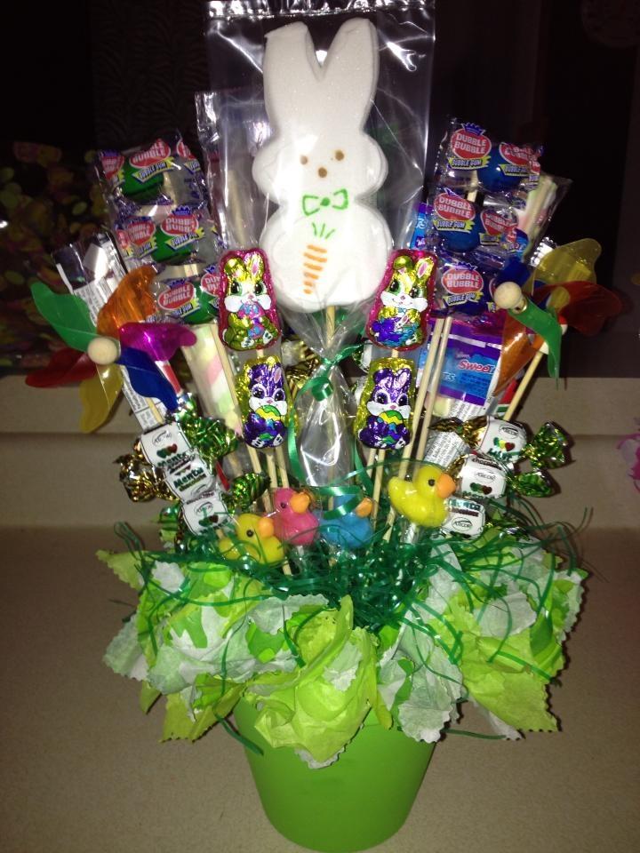 Easter candy bouquet bouquets pinterest