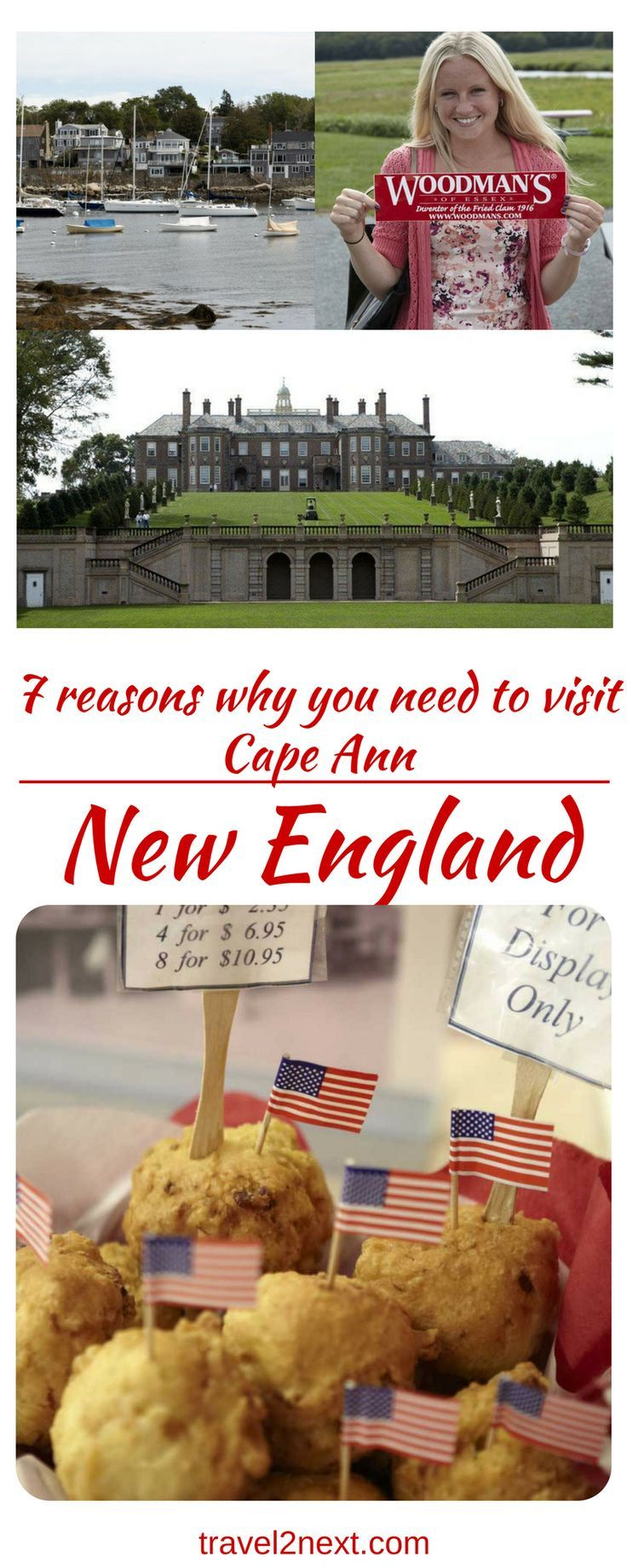 7 reasons why you need to visit Cape Ann in New England, USA.  Fried clams, shipbuilding history and arty seaside towns are some of the drawcards of Cape Ann.