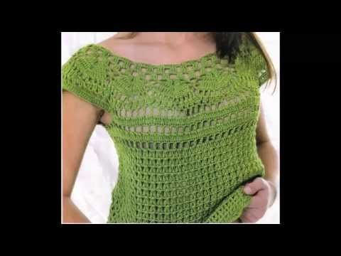 Blusa Verde Calado Perfecto a Crochet - YouTube
