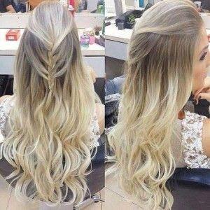 fotos de cabelos feito com mechas platinadas