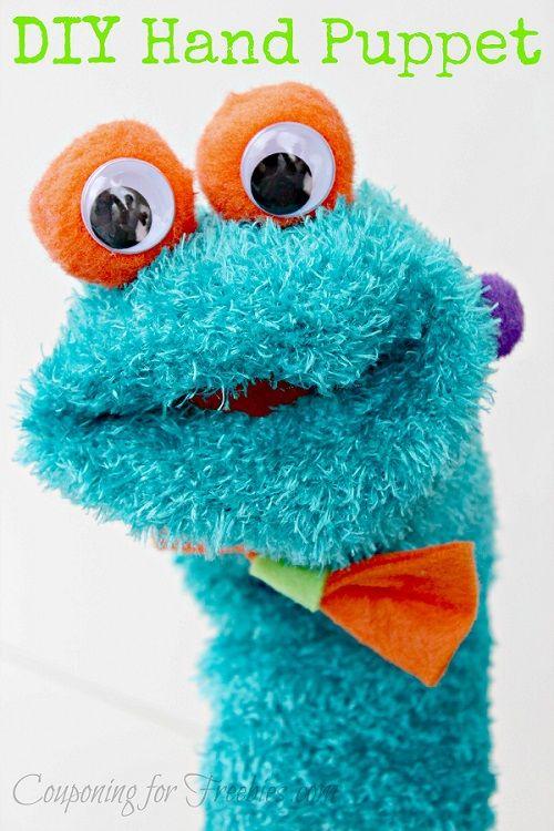 DIY Hand Puppet  - http://couponingforfreebies.com/diy-hand-puppet/