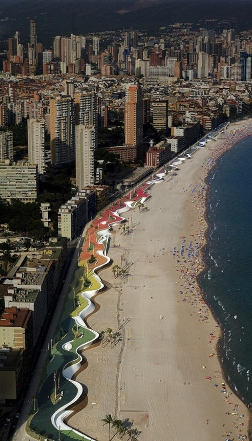 Benidorm seafront by OAB