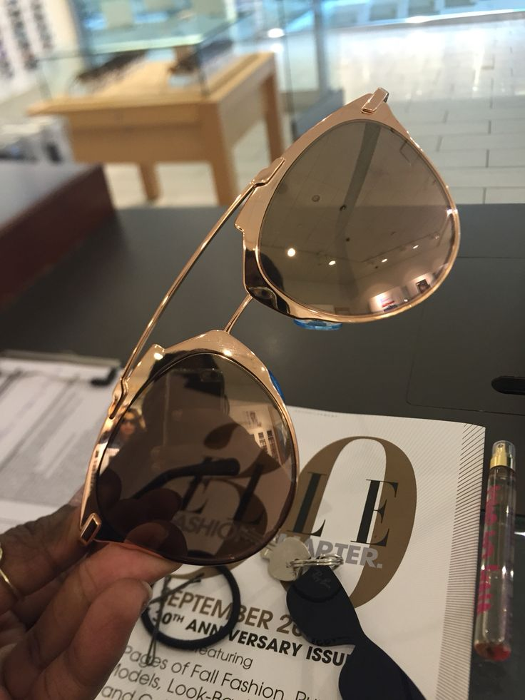 Dior reflected sunglasses in rose gold