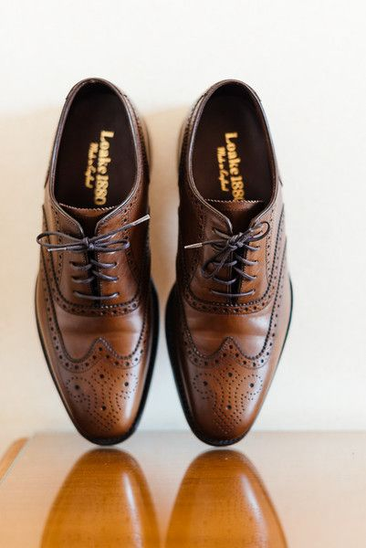 Groom shoes idea - brown Oxfords {Elias Kordelakos Photography}