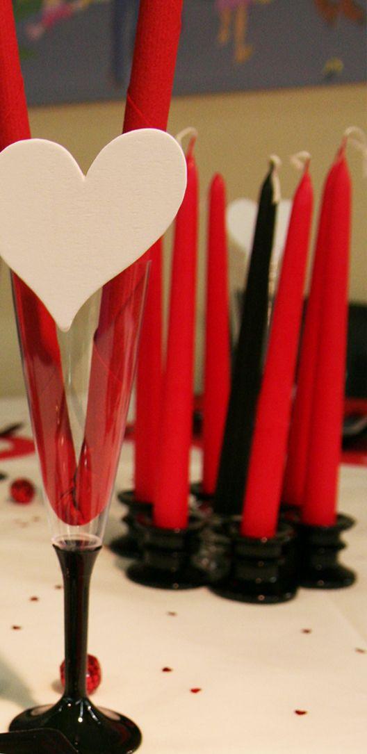 Verres décorés et centre de table