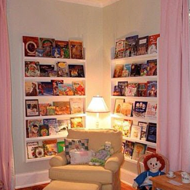 Reading nook.... Love this