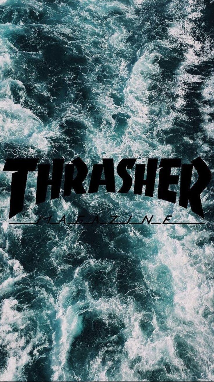 Thrasher ocean phone wallpaper (2020) Edgy wallpaper