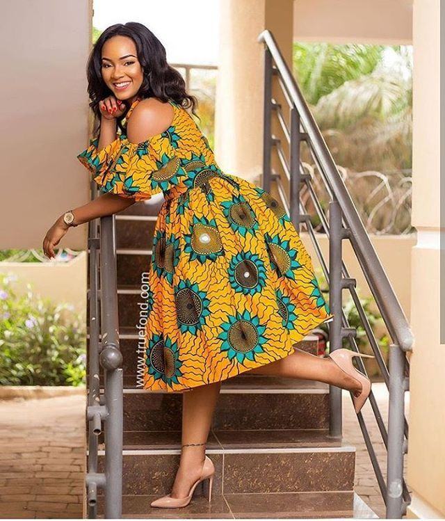 beautiful and stylish ankara gown for you