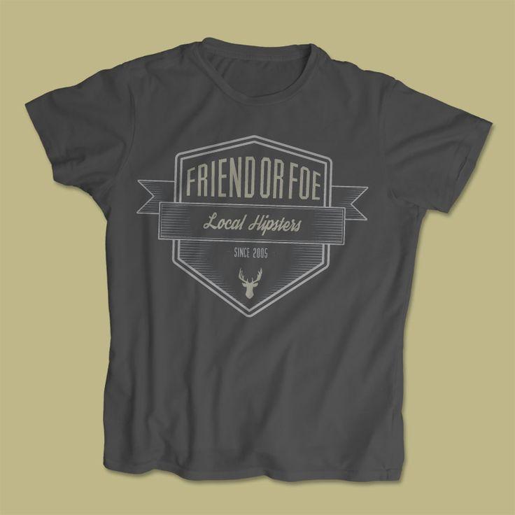 Friend Or Foe (Edmundston, NB Punk-core band) t-shirt design
