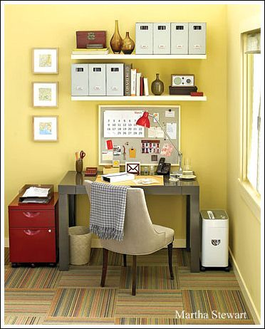 home office decorating ideas. Great idea I'm trying to go for a mini office area this is perfect!