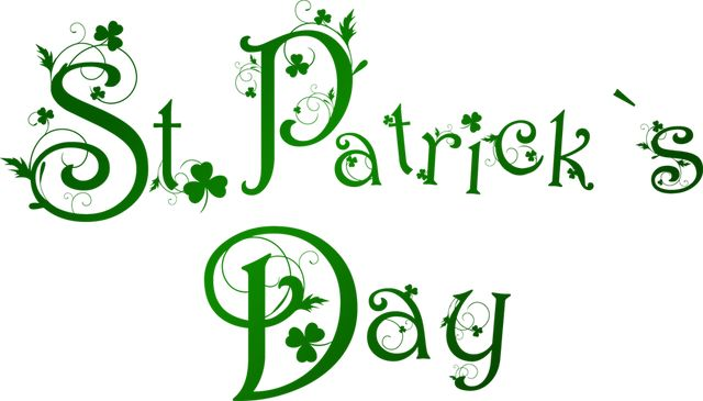 Clip Art Related to St. Patrick's Day: St. Patrick's Day Word Art