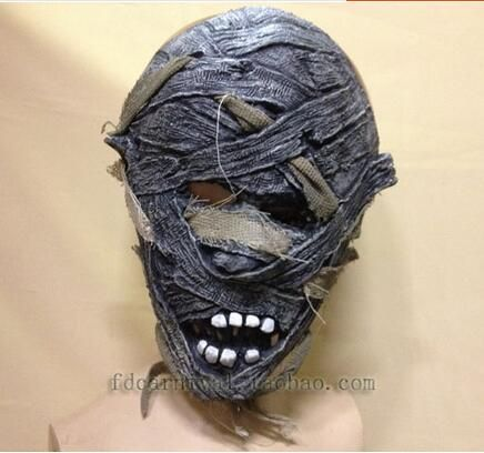 Halloween Cosplay Scary Devil Masks mascaras de latex realista Mummy Mask Adult Full Head Mask Fancy Party Costume Theater Toy