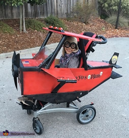 Red Baron Boy's Wheelchair Halloween Costume Idea