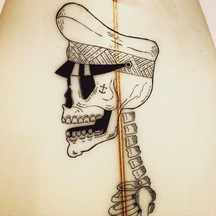 Sufboard art, posca markers, kazuma boards