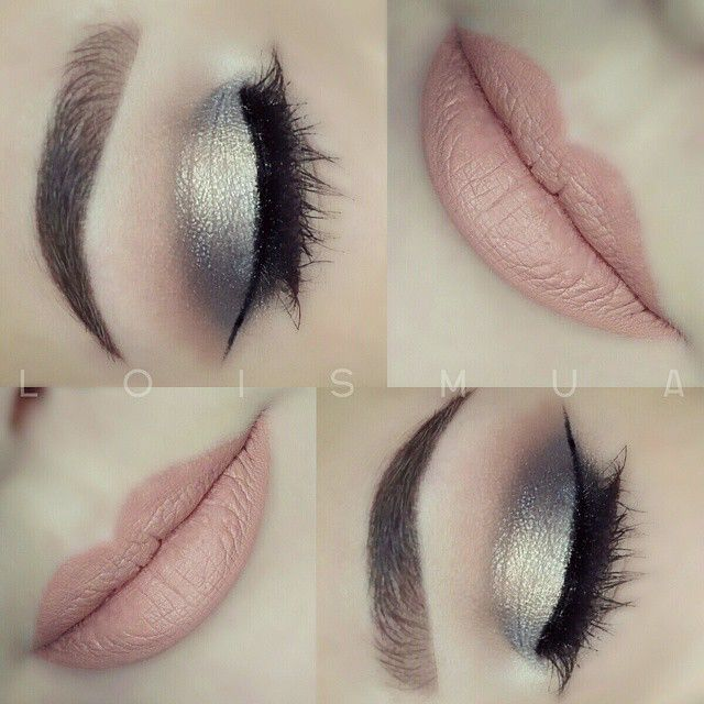 Silver Eyes & Baby Pink Lipstick - Magnet Look