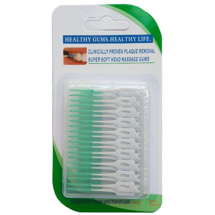 40 PCS/Pack Elastis pijat gusi antara gigi menyikat gigi menyikat jahitan lembut sikat pijat gusi tidak menyakiti tusuk gigi
