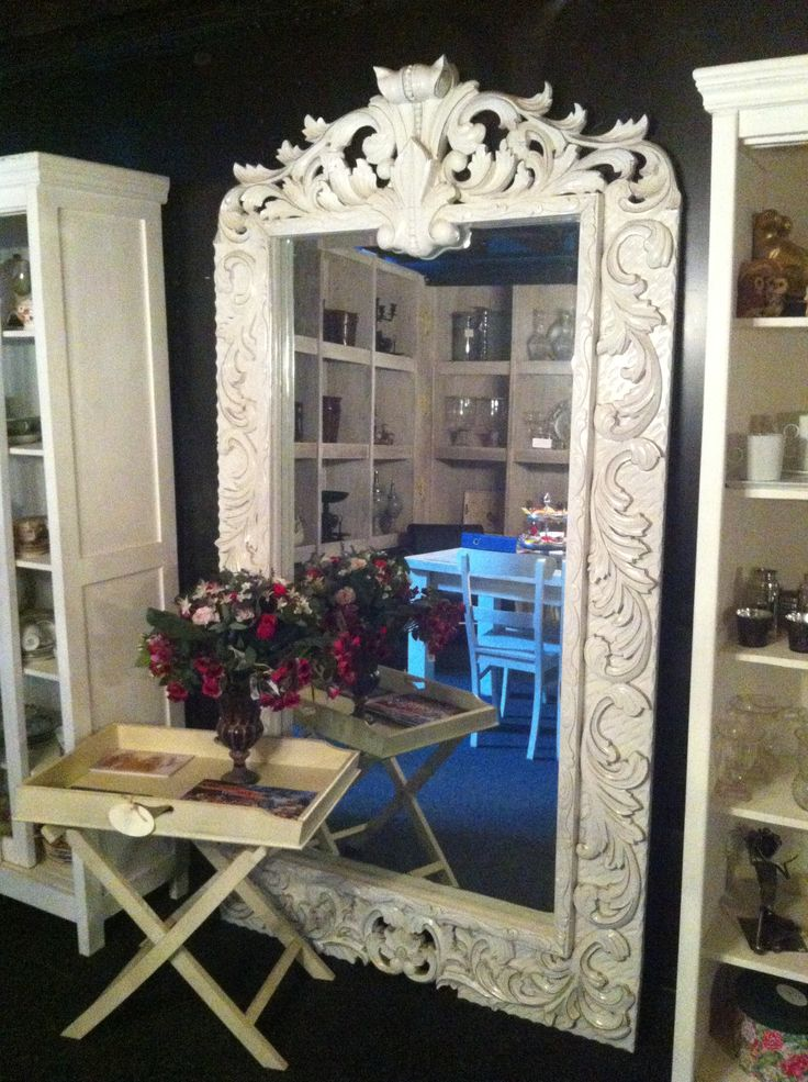 17 best images about witte spiegels white mirror on for Grote barok spiegel