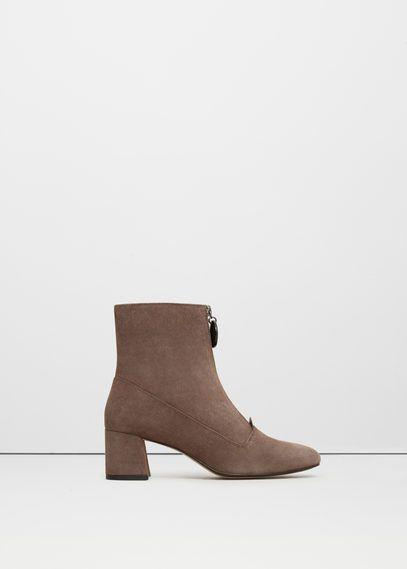 Кожаные ботинки с молнией
