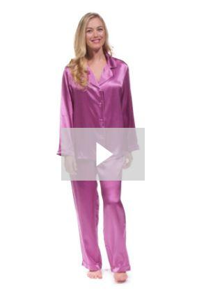 Women's Classic 100% Mulberry Silk Pajamas - Custom Gift Box