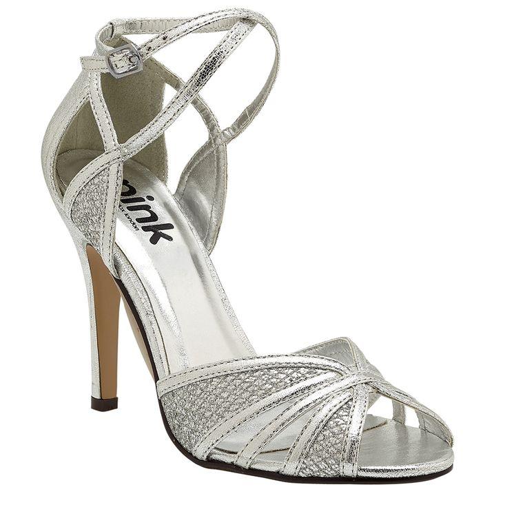 Pink Paradox Sasha Silver Sandals Wedding Shoes Crystal Bridal Accessories
