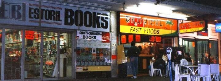Estoril Books and Tropical Fast Food Pretoria Street, Hillbrow Circa early 1970's