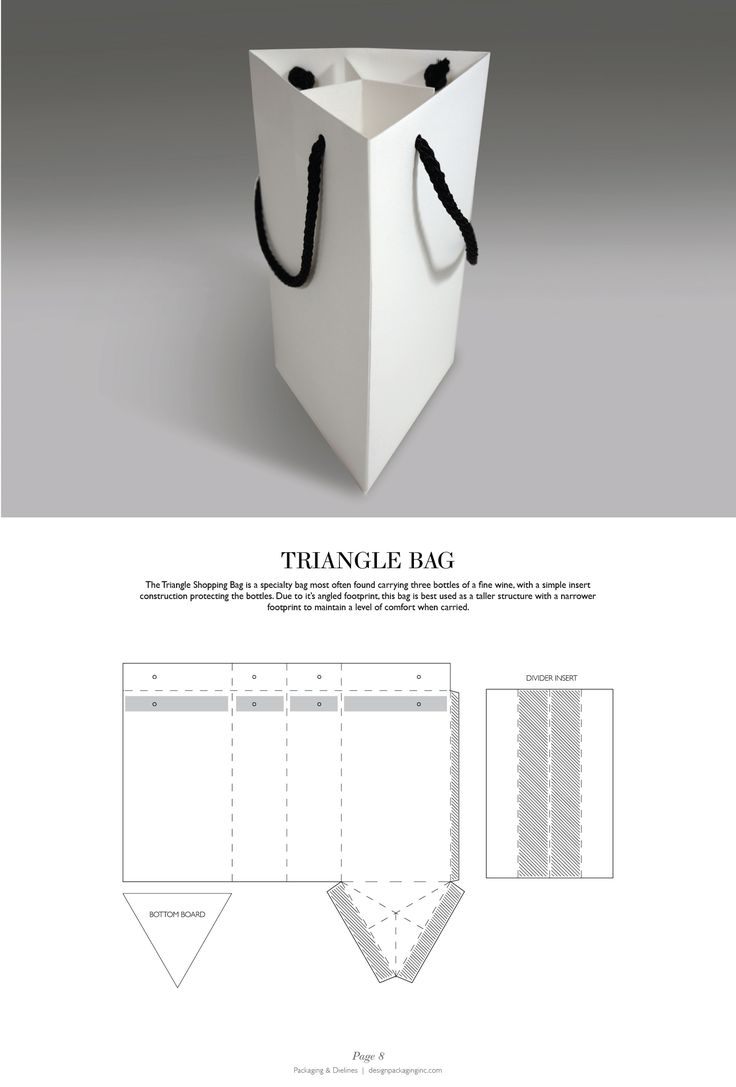 Triangle Bag - Packaging & Dielines: The Designer's Book of Packaging Dielines