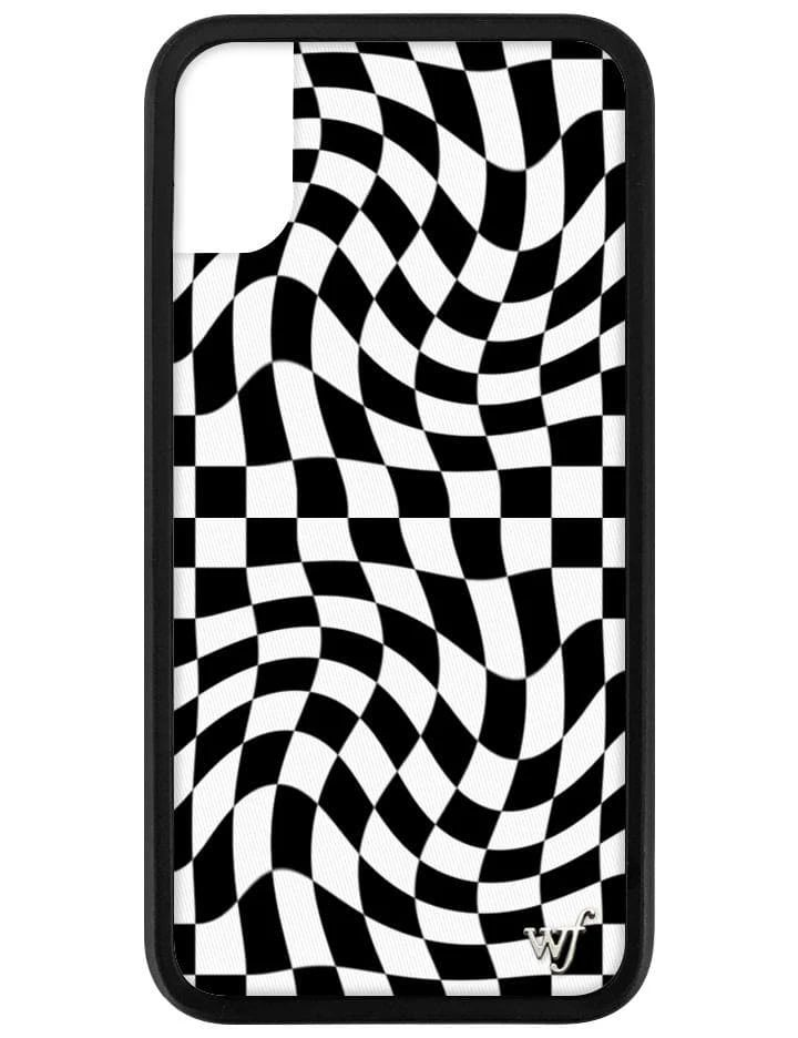Crazy checkers iphone xxs case wildflower cases