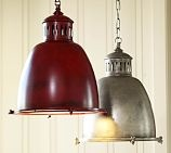 Wilson Industrial Pendant, Pewter finish.  I really want this light for my kitchen!