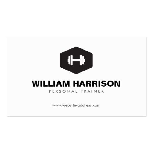 300 best fitness trainer business cards images on pinterest modern dumbbell logo for personal trainer fitness business card flashek Choice Image