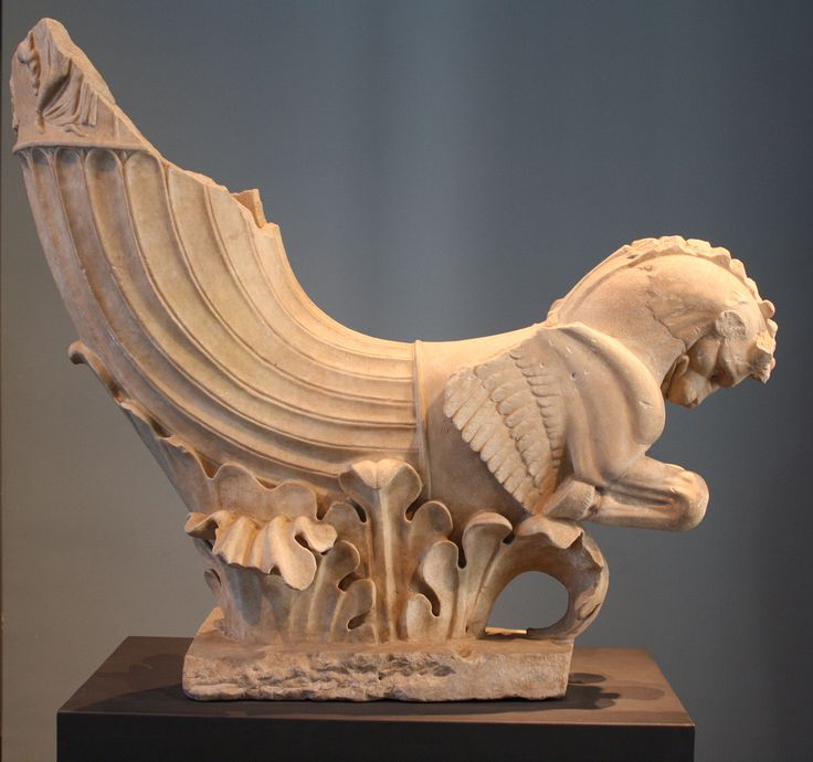 A Superb Roman Marble Rhyton In The Form Of A Lion Griffin, Once Used As  Fountain Decoration