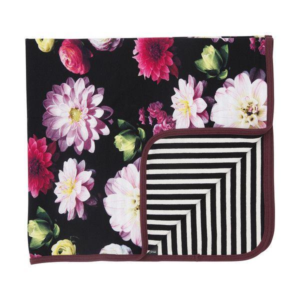 Molo Neala Black Flowering Reversible Blanket