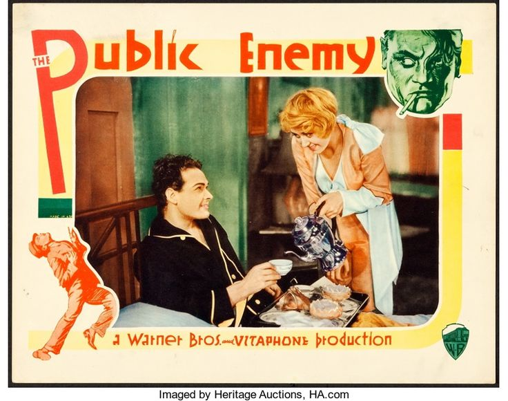 "Movie Posters:Crime, The Public Enemy (Warner Brothers, 1931). Lobby Card (11"" X 14"")....."