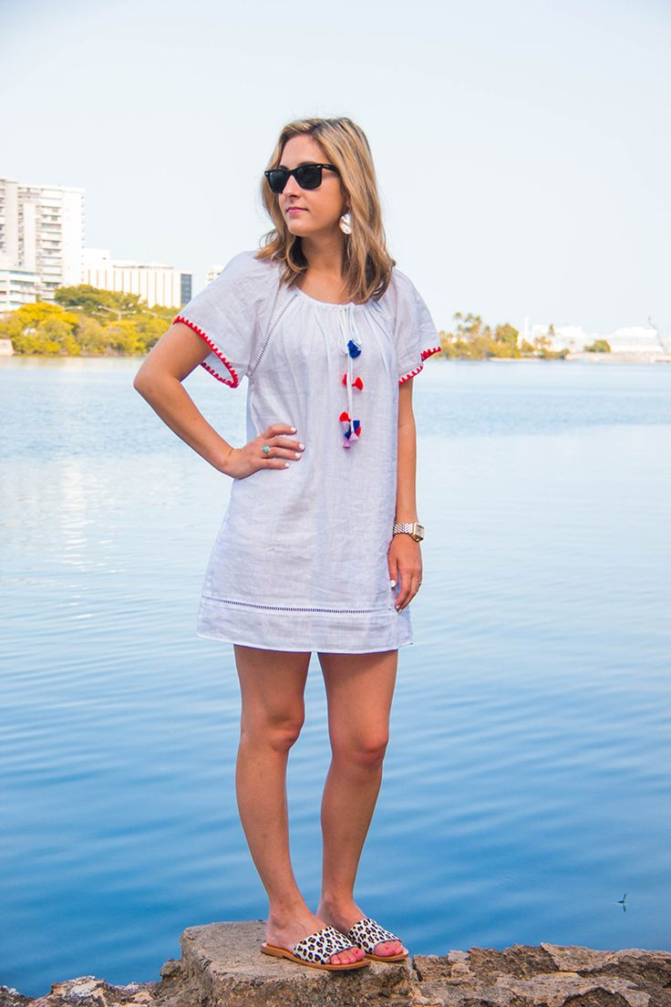 One Swainky Couple: The Benefits of Traveling Together | white linen dress | tassel dress | beach cover up | summer dress
