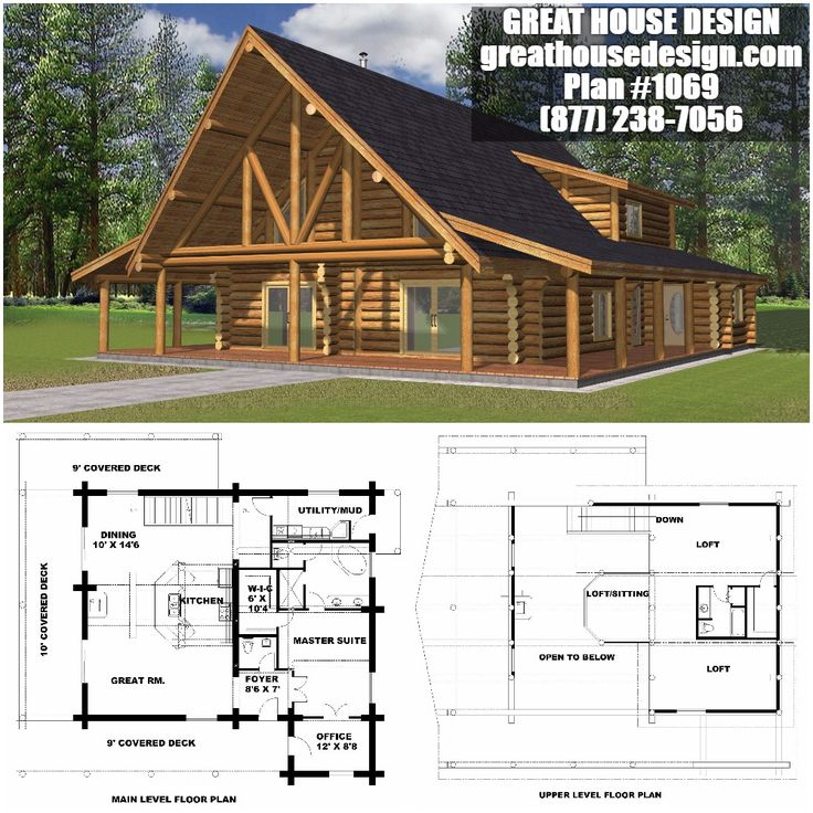 Northwestern Log House Plan # 1069 Toll Free: (877) 238 7056