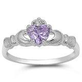 925 Sterling Silver Claddagh Ring Alexandrite | Claddagh Grá