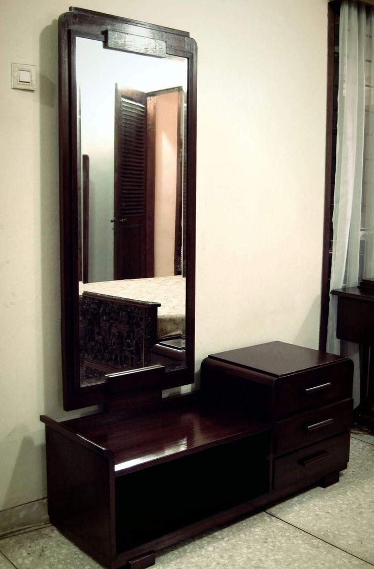 Mirror nightstands contemporary bedroom kimberley seldon design - Full Length Mirror Dressing Table