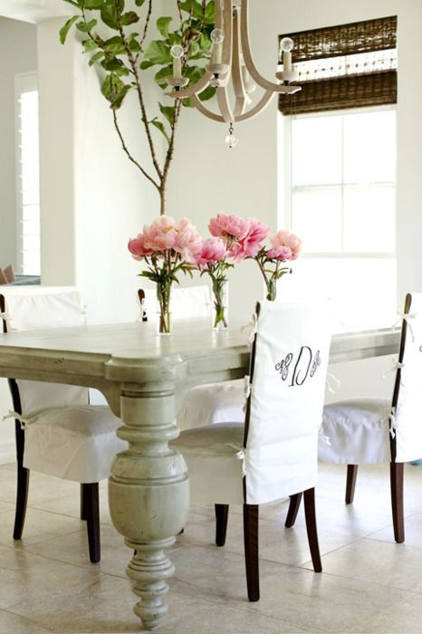 25 best ideas about Dining chair slipcovers on Pinterest Chair