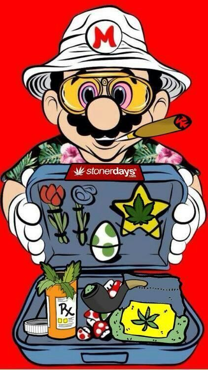 Stonerdays marijuana cartoon art print poster