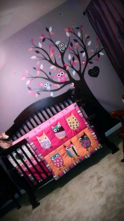 owl nursery / baby girl nursery how adorable @Sara Eriksson Eriksson Eriksson knapp !!!
