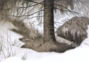 Norsk Trollvinter | Theodor Kittelsen