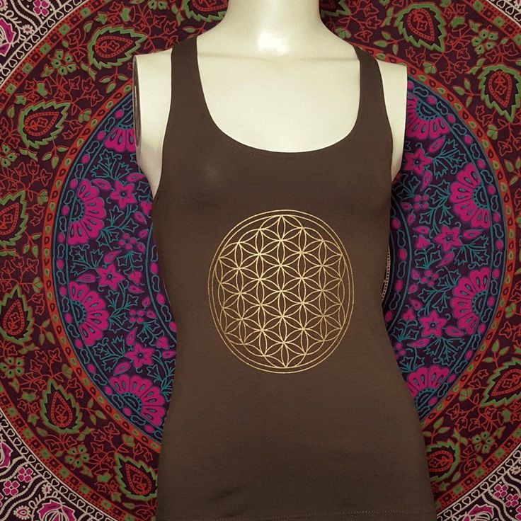 Flower Of Life Tank Top With Slash Back – Pure People